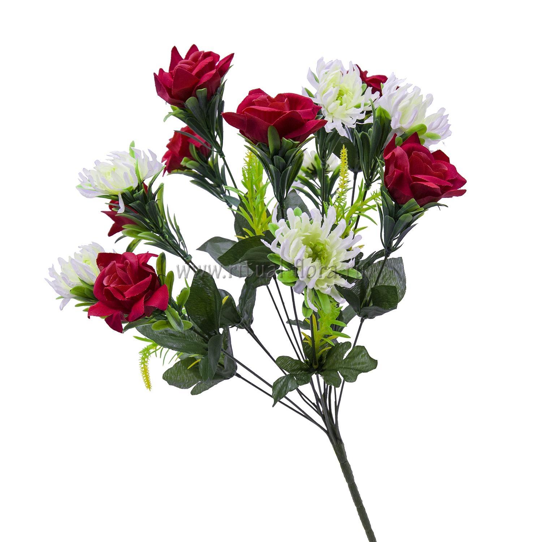 Букет роза бархат+хризантема 13г (20шт)БХН-393-13Г