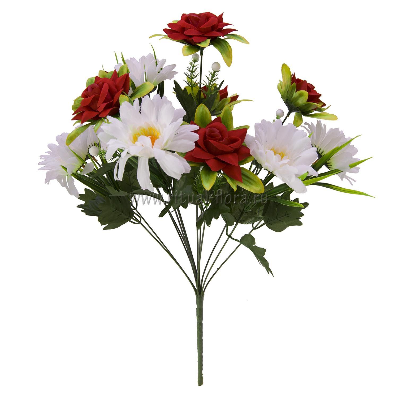 Букет георгин+роза бархат 13Г БХН-403-13Г