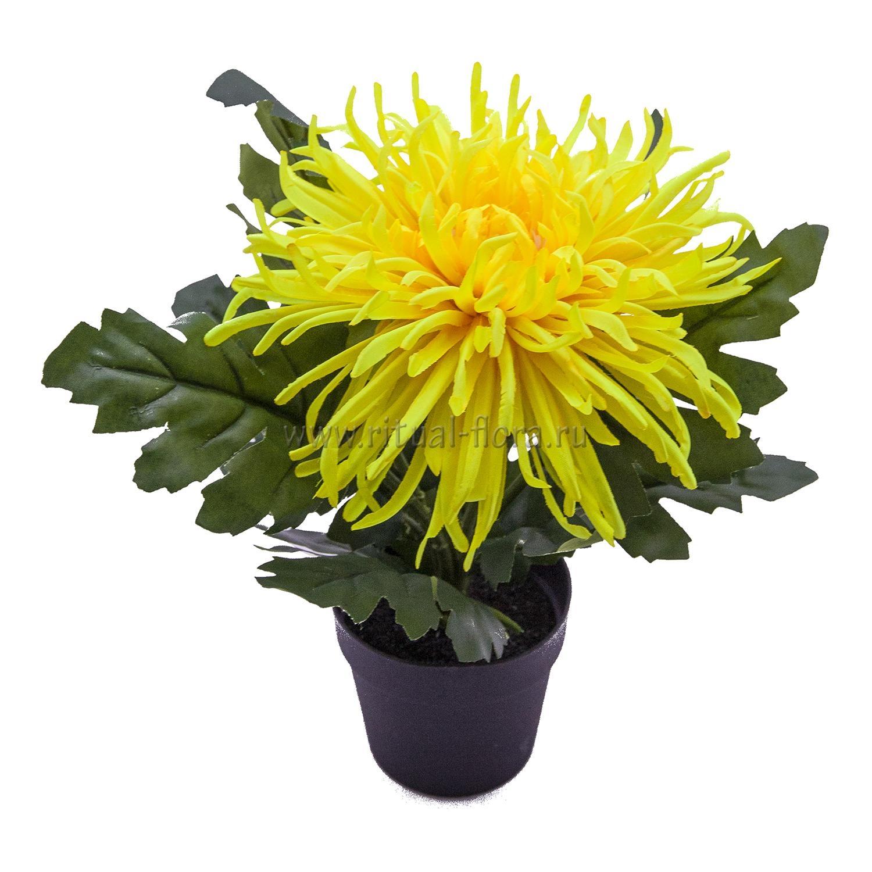 Кашпо цветок в горшке ткань БХН-432