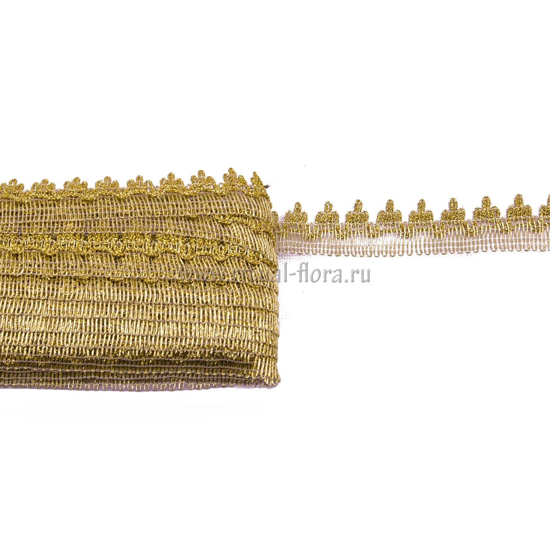 Тесьма Корона 3 см (25 ярд/уп) золото