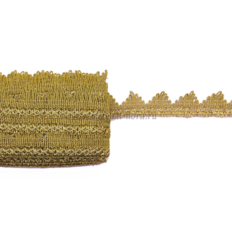 Тесьма Пирамида 3,7см (25 ярд/уп) золото