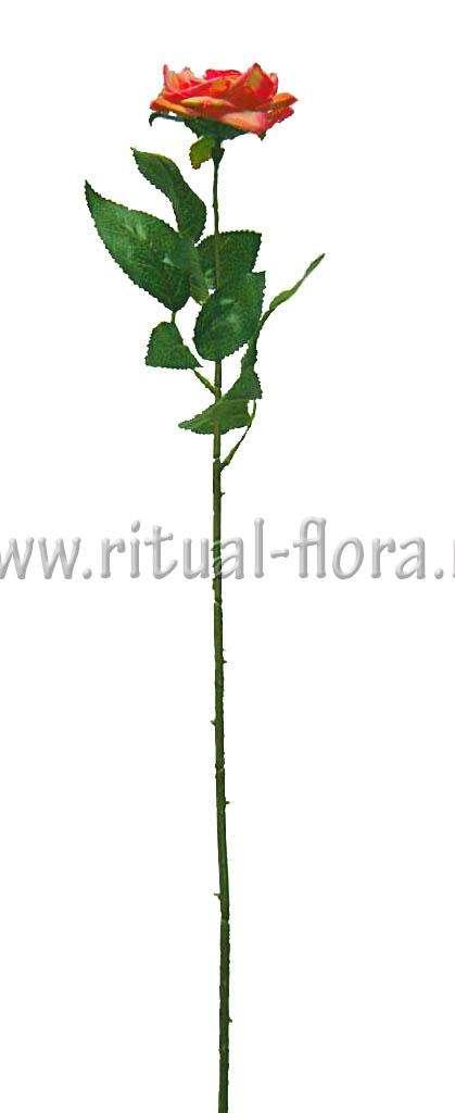 Ветка розы бархат одиночная