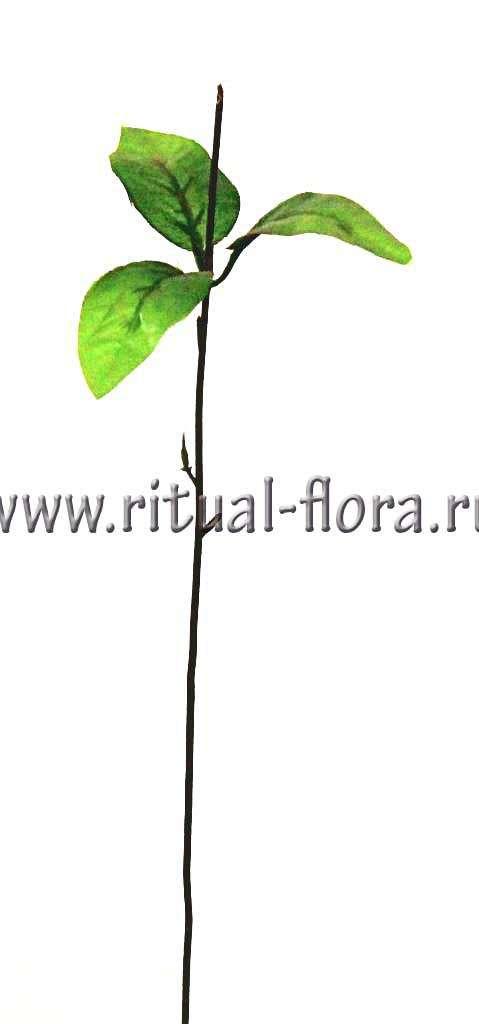 Ножка розы №12 +лист (38см)