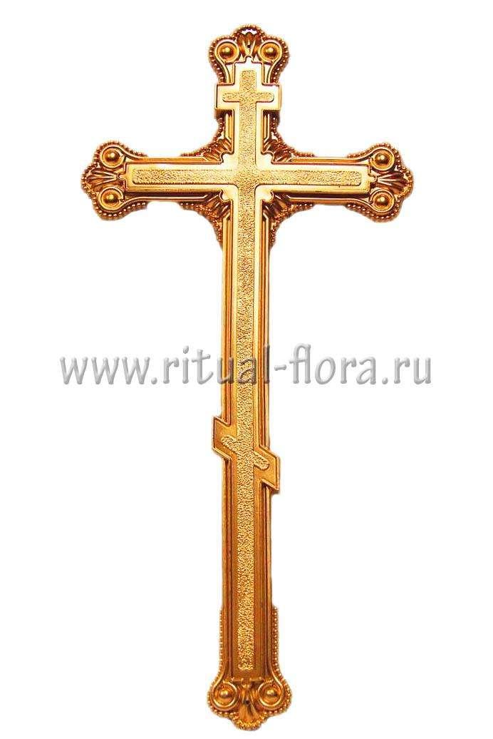 Крест на гроб №4 золото