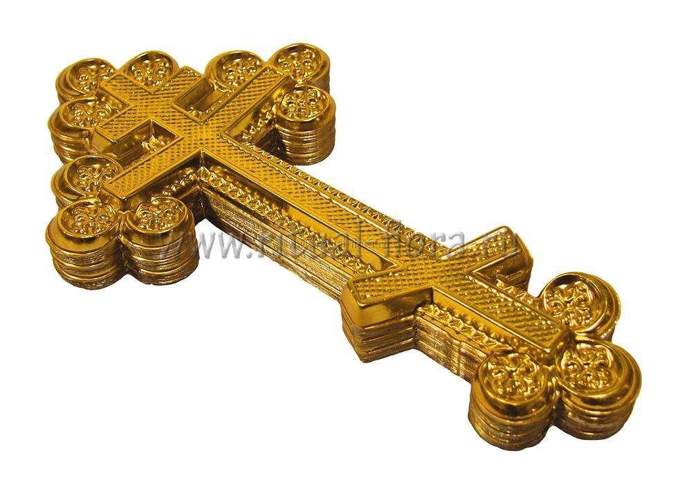 Крест на гроб (1.09 Большой ажурный б/р) Ч