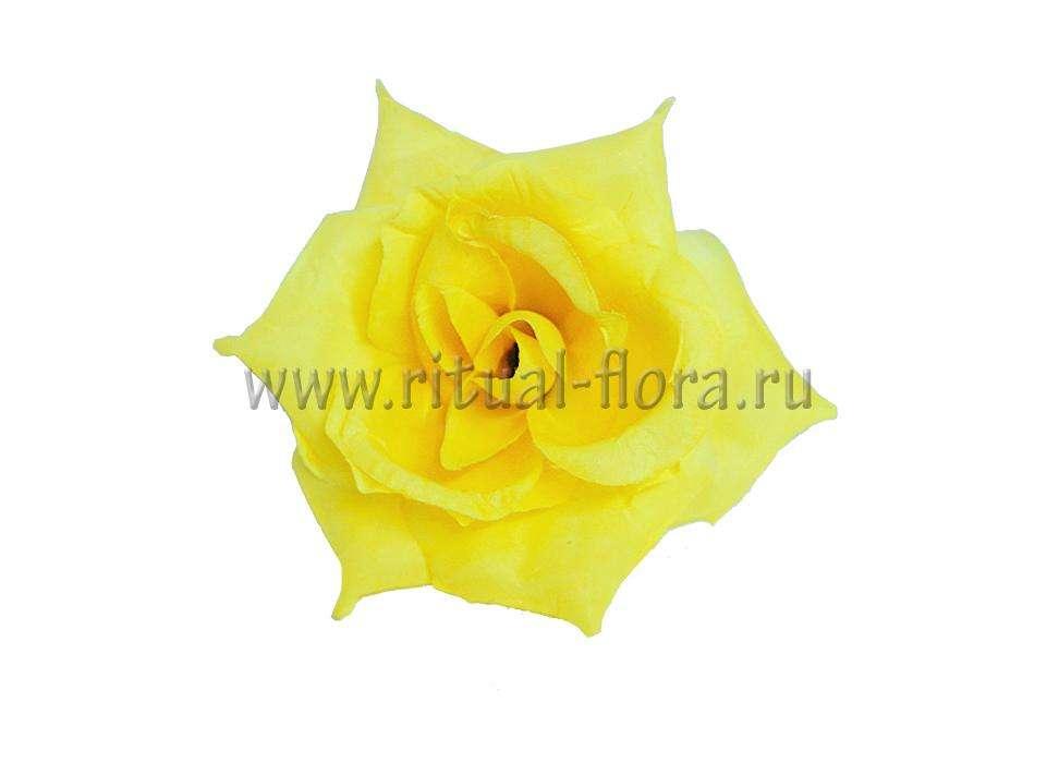 Роза Джулия желтая д.11см.