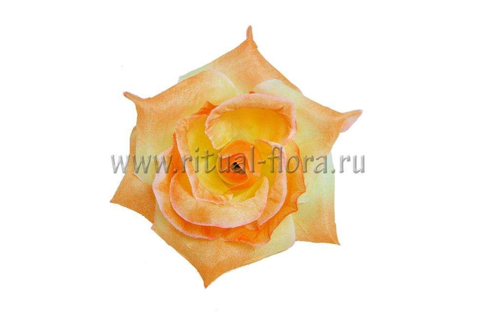 Роза Джулия оранжевая д.11см.