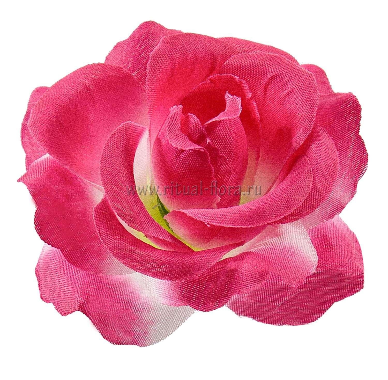 Роза Элла шелк d-11 см розовый (1/50)