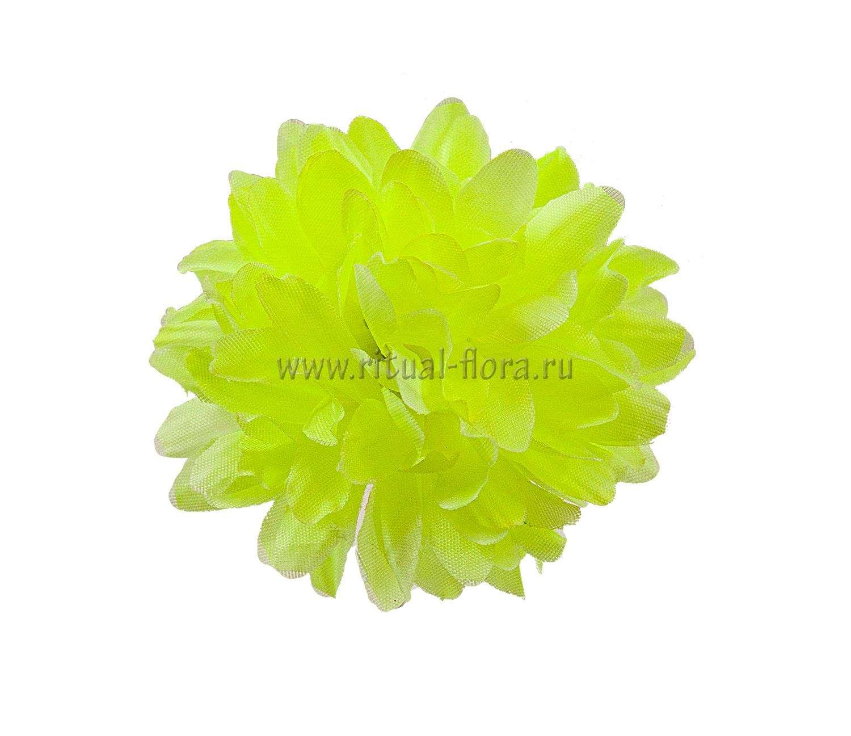 Хризантема шелк d-10 см желтый (1/100)