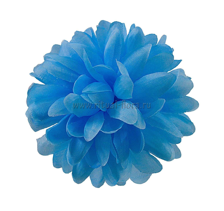 Хризантема шелк №45 d-12 см синий