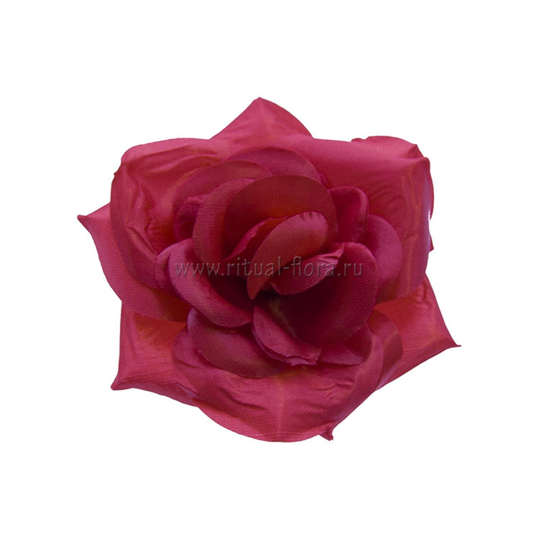 Роза Келли атлас d-12 cм красный (1/40)