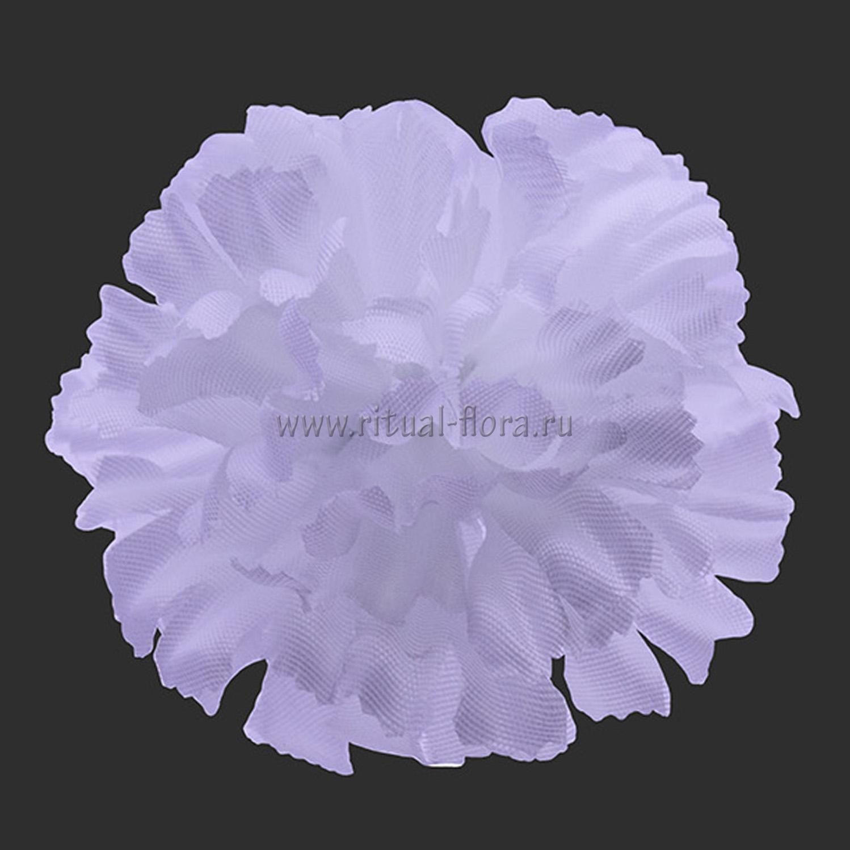 Гвоздика шелк d-10,5 см белый (1/100)