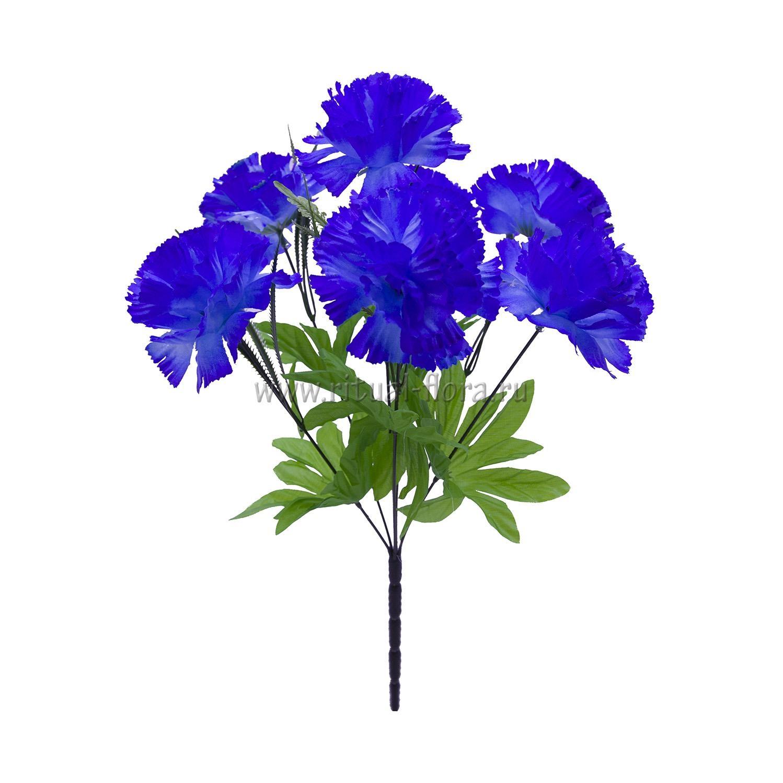 Букет гвоздик Мила (синий) 7г БВ-013
