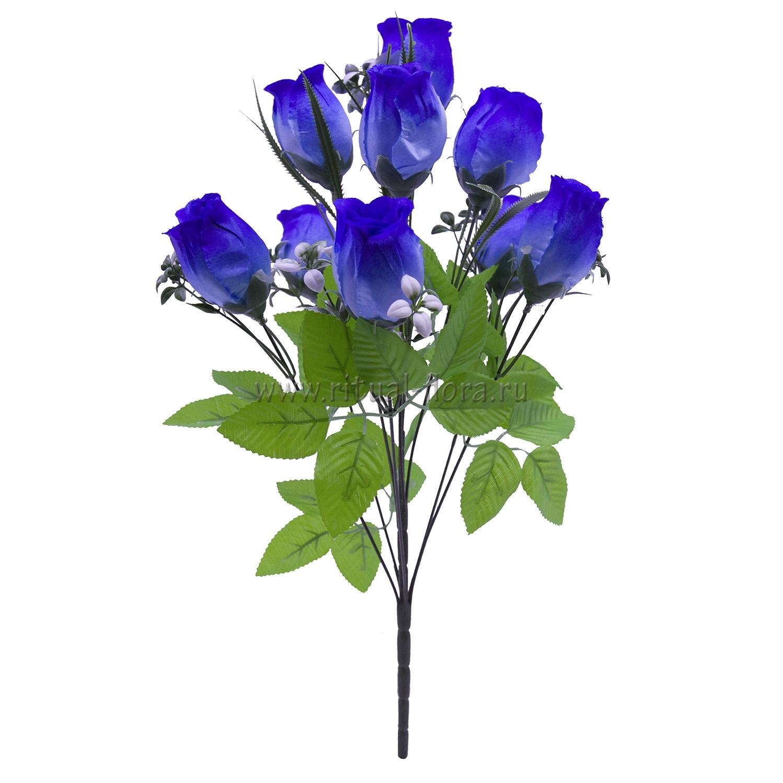 Букет бутонов атласных Карина (синий) 9 г БВ-016