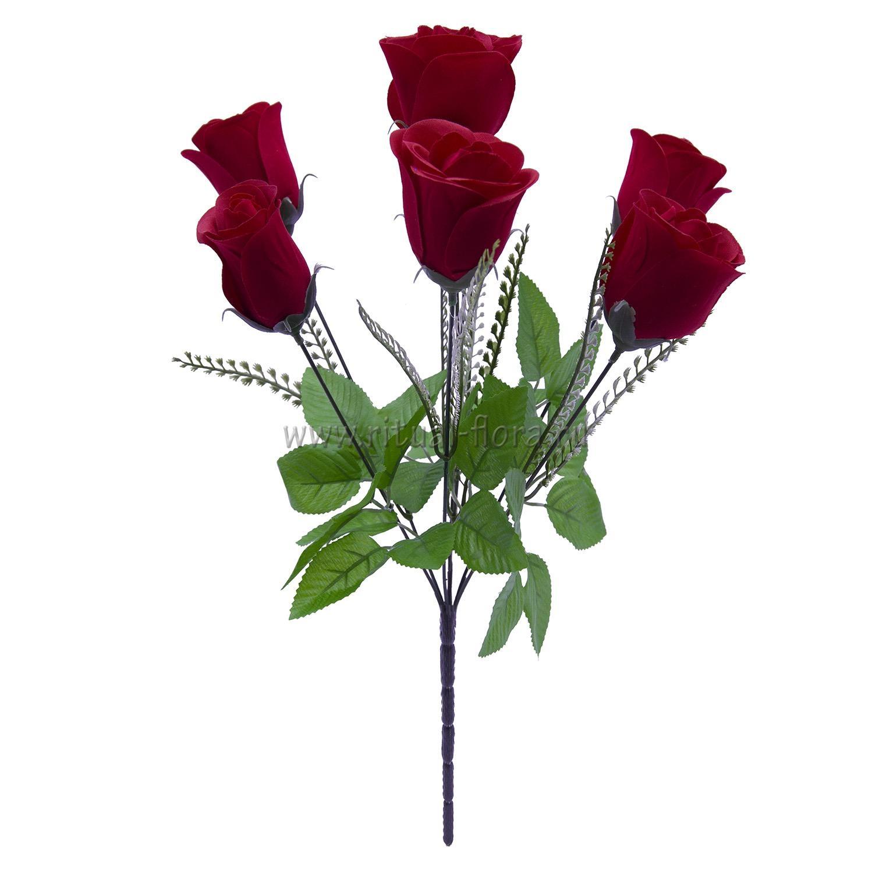 Букет бутонов роз бархат  Мэри 7г БВ-001
