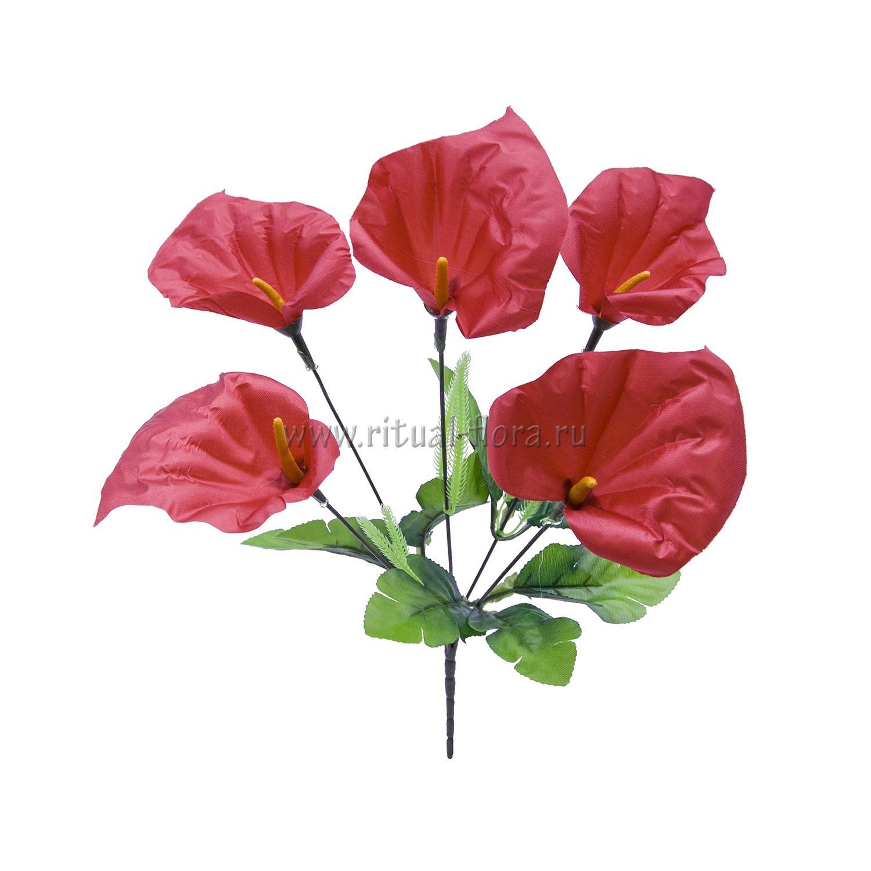 Букет калл атлас Дина (красный) 5г БВ-003