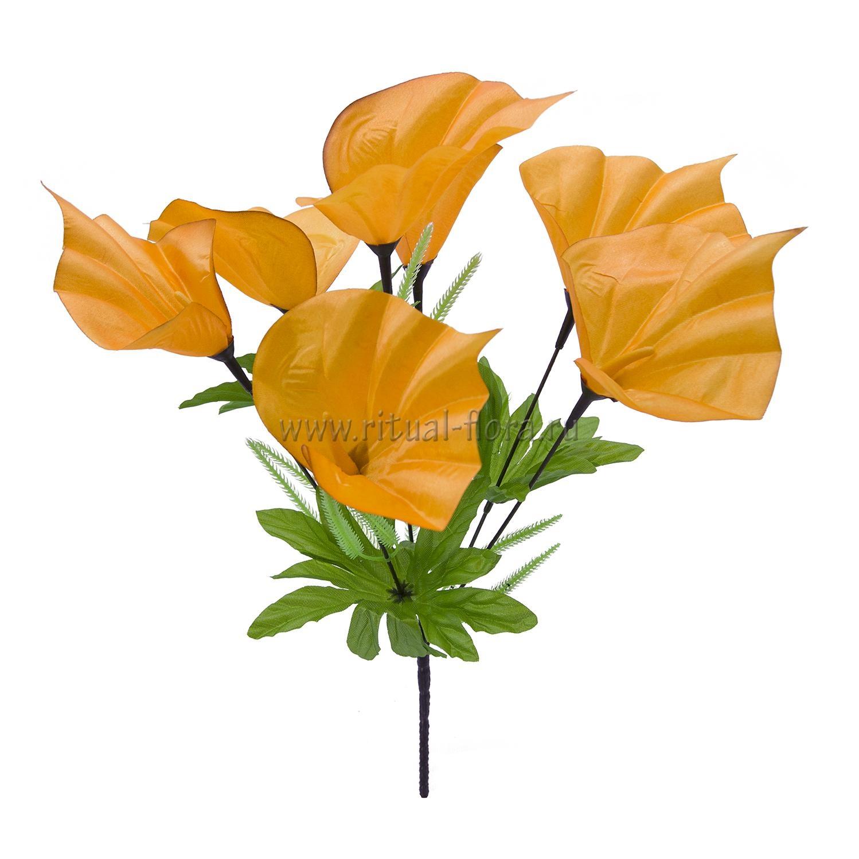 Букет калл атлас Нина (оранжевый) 7г БВ-007