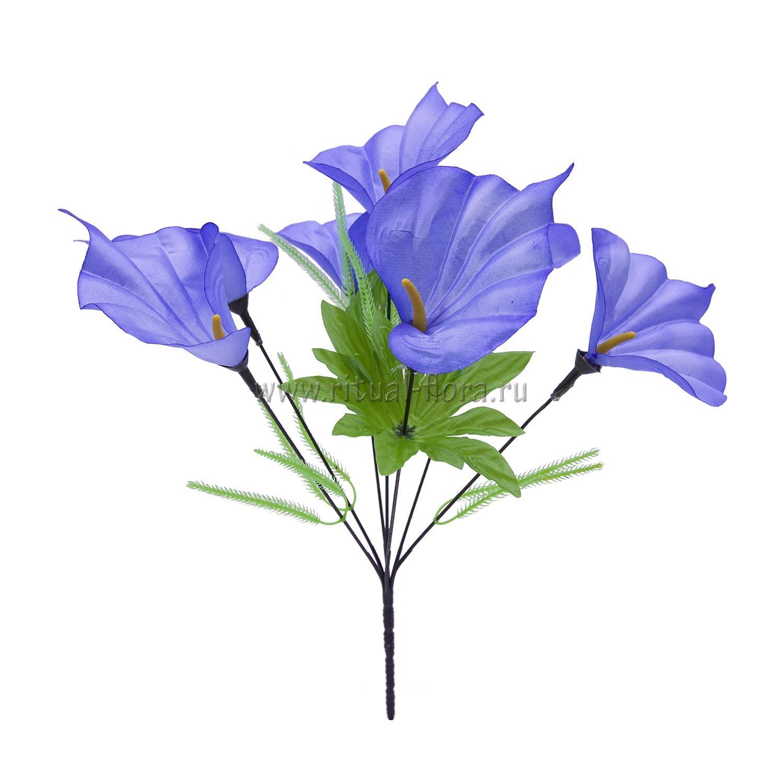 Букет калл атлас Нина (синий) 7г БВ-007