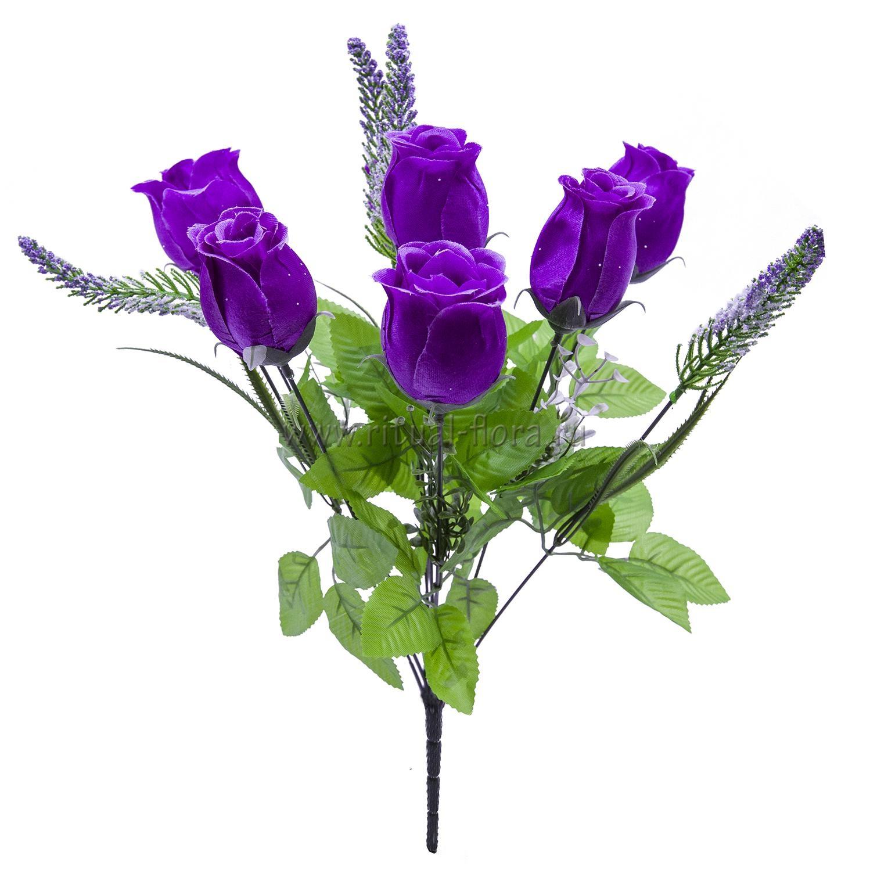 Букет бутонов атласных Шанель (фиолетовый)  7г БВ-025