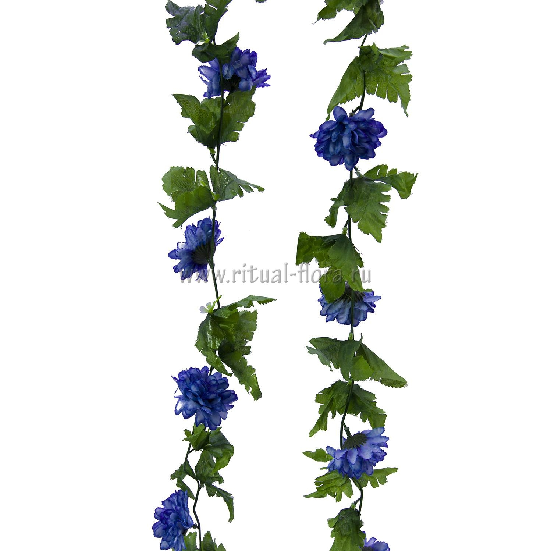 Ветка лиана хризантема (микс 20шт)