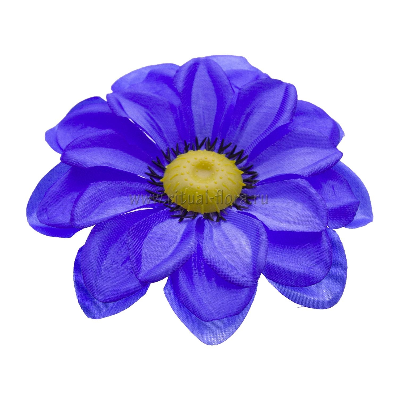 Георгин атлас 13 см синий