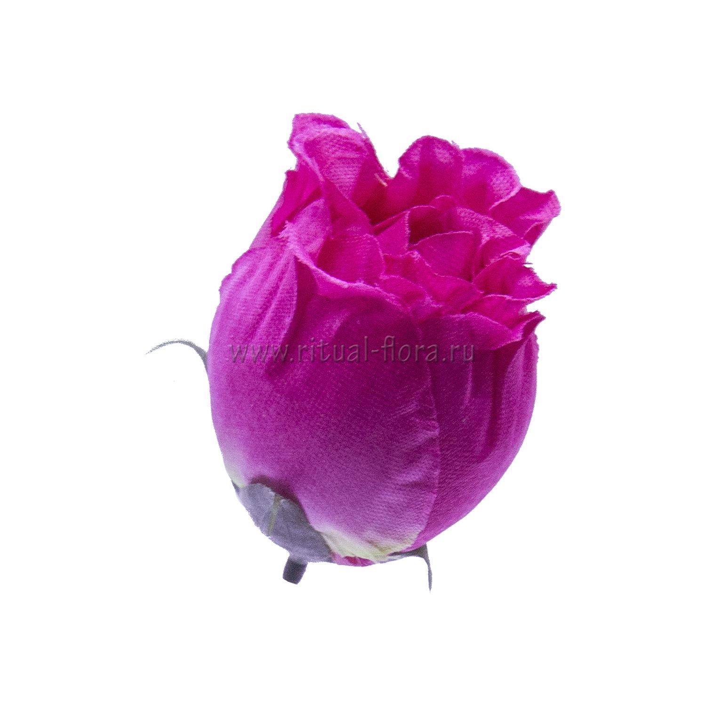 Роза бутон атлас 6 см (1/100)