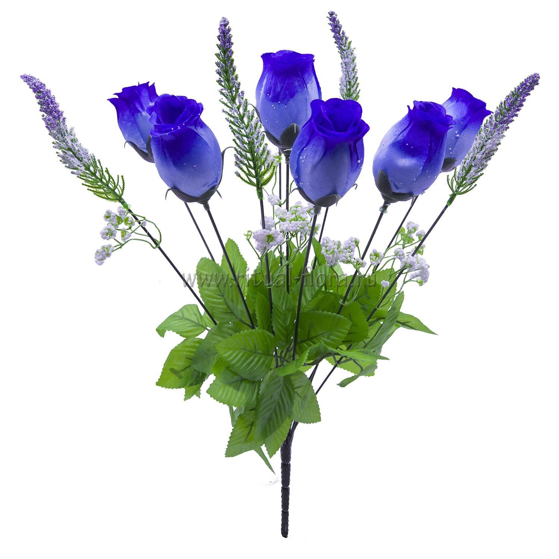 Букет бутонов атласных Шанель (синий)  7г БВ-025