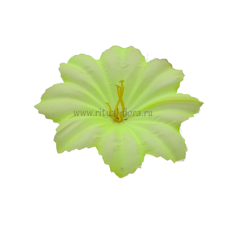Клематис шелк №50 d-10,5 см.желтый